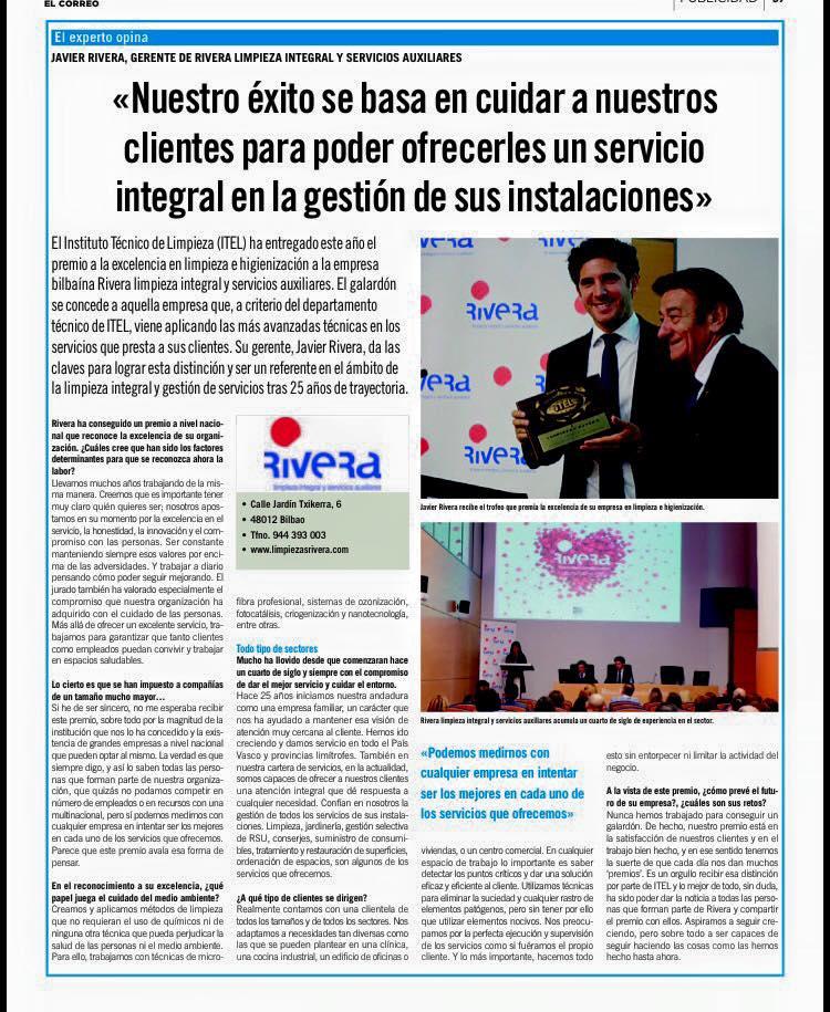 Rivera, premio a la excelencia | Reportaje El Correo